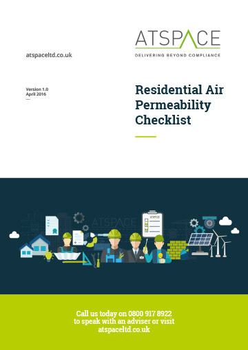 ATSPACE Residential Air Permeability Checklist