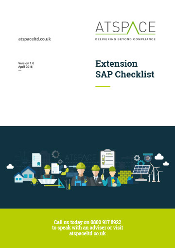 ATSPACE Extension SAP Checklist