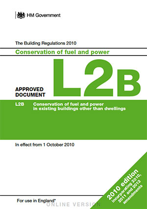 the building regulations part L2B